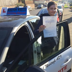 Automatic Test Pass for Tyler Pinney of Taunton