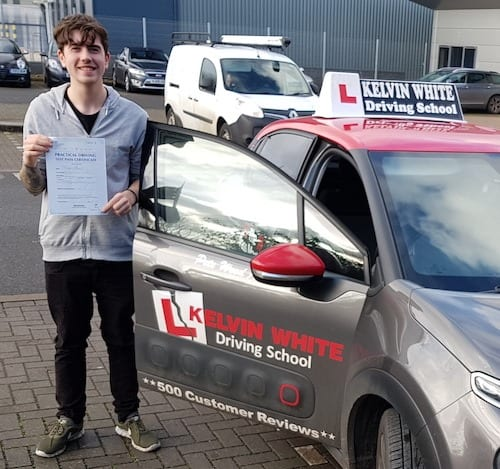 Congratulations to Cameron Fairfax of Bridgwater on his driving test pass.